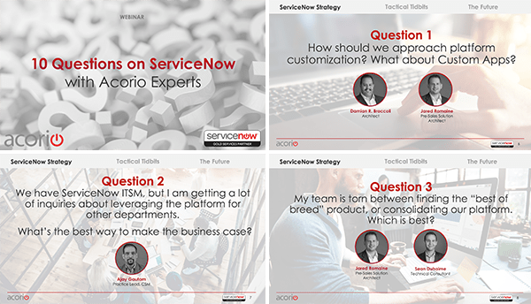 10 Quesitons with ServiceNow Experts