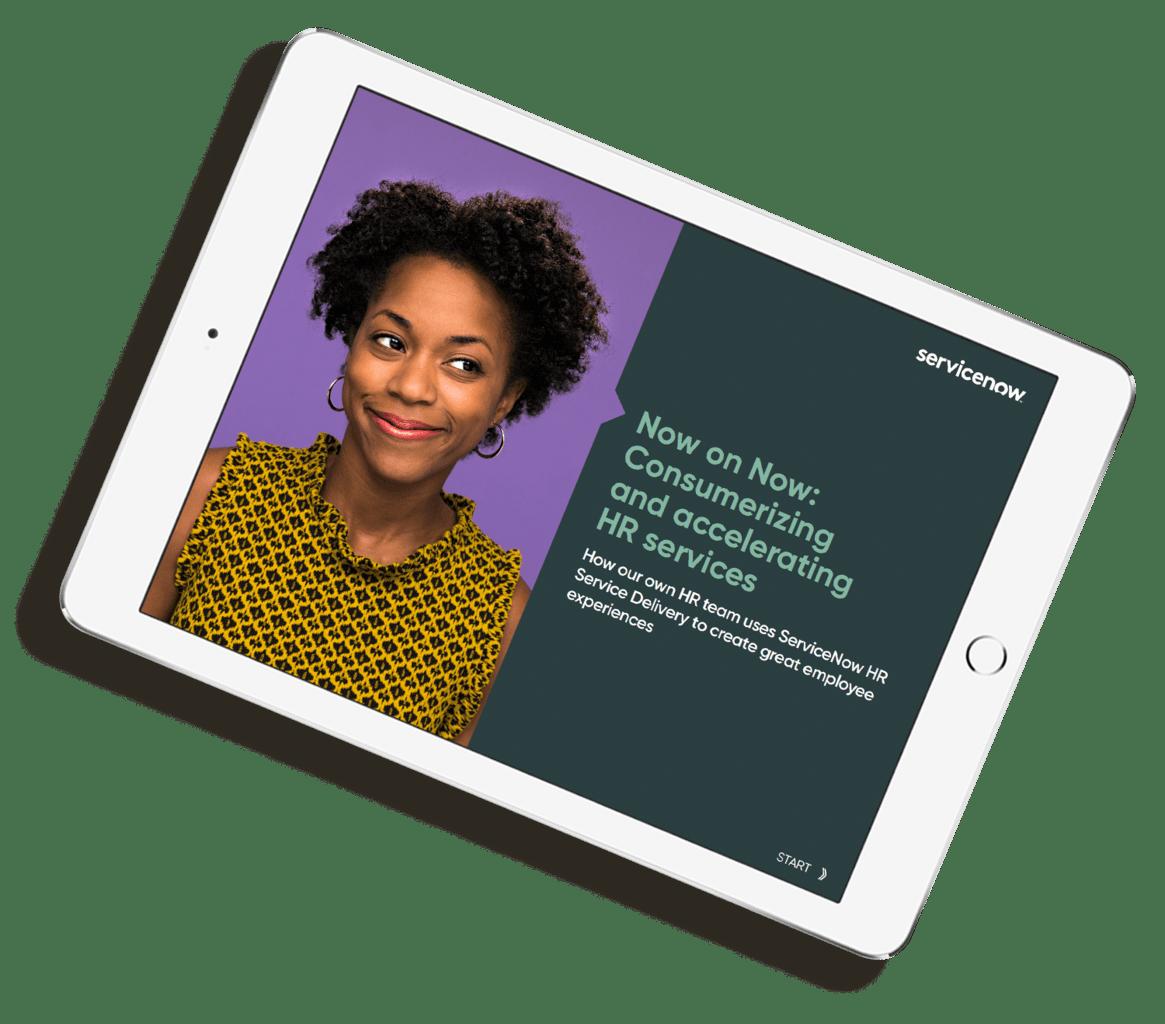 ServiceNow Campaigns eBook on iPad