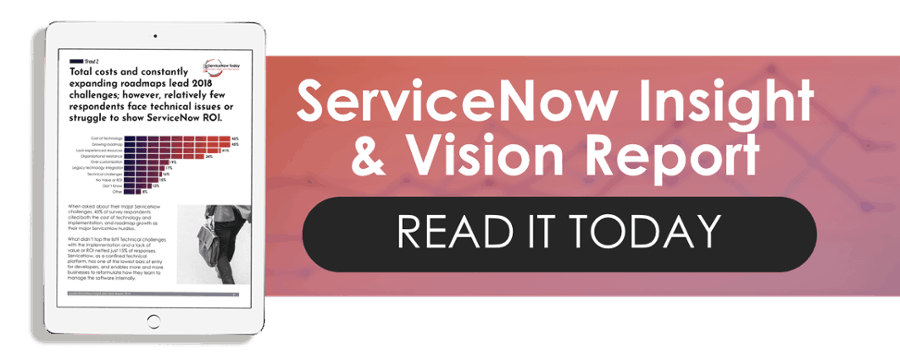 Servicenow future trends report ebook on tablet