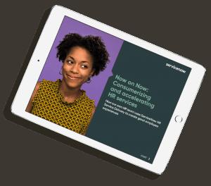 ServiceNow HRSD platform eBook on iPad