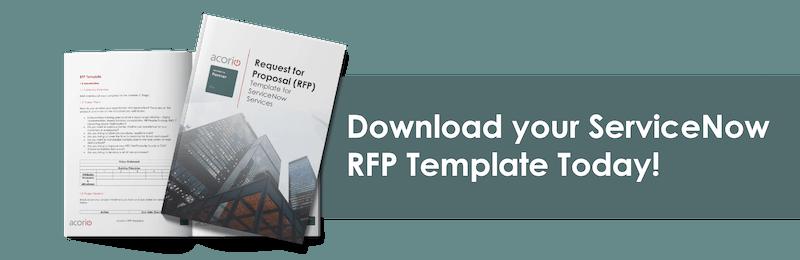 ServiceNow RFP Template CTA