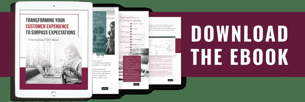 Customer Service Strategy ebook on tablet