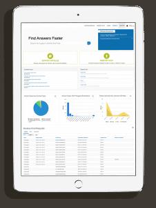 Service Portal screenshot on tablet