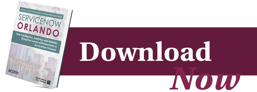 ServiceNow Orlando Upgrade eBook download button