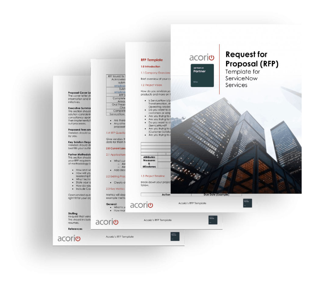 Writing a ServiceNow RFP eBook preview