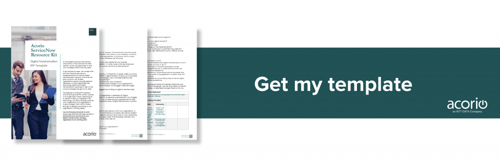 ServiceNow RFP Template Digital Transformation Download Now